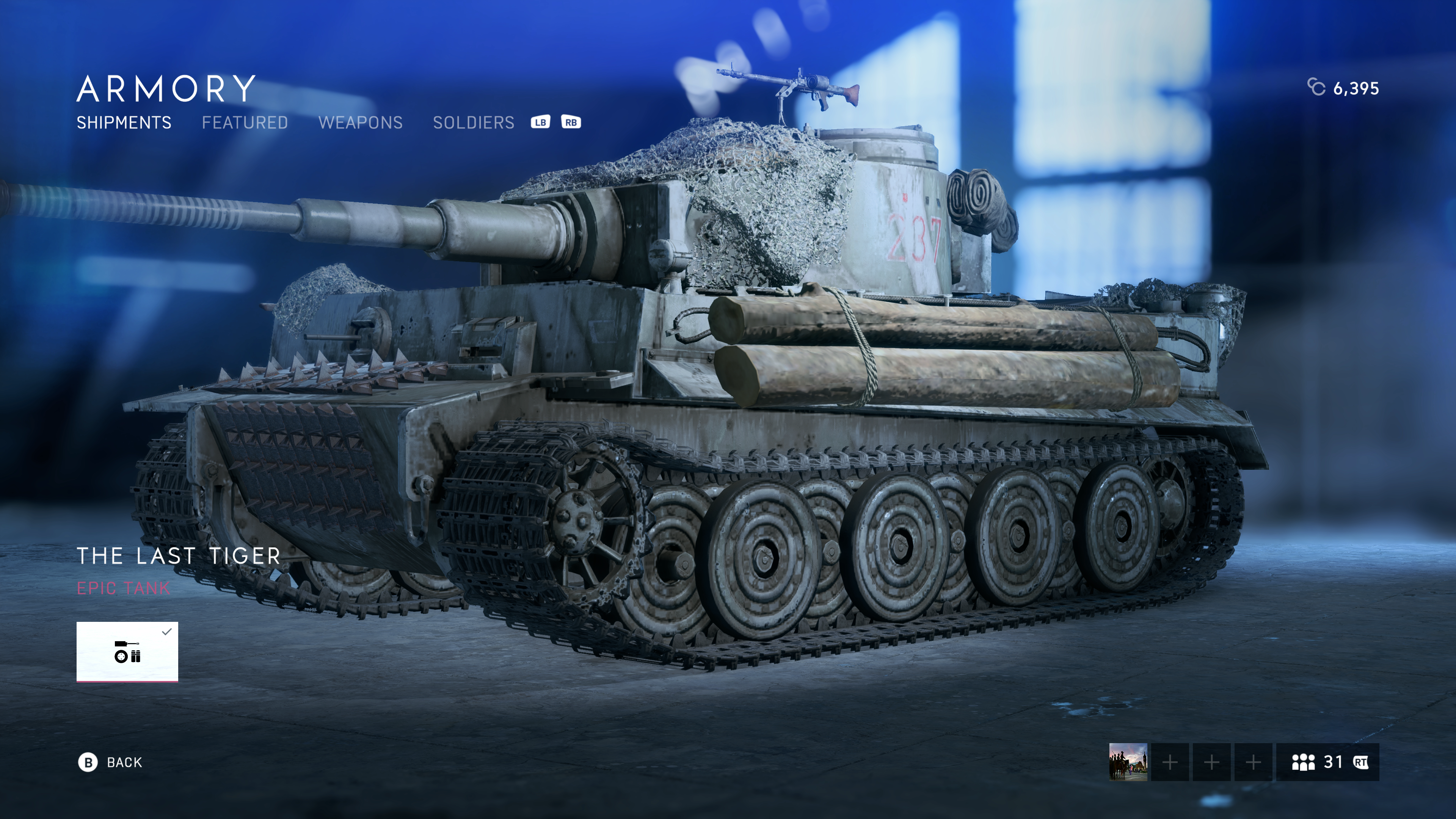 The Last Tiger Skin Unlock? For the Tiger tank — Battlefield Forums